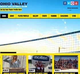 Beach Volleyball Website from OneCom Media & Marketing