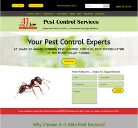 Exterminator Website from OneCom Media & Marketing